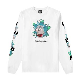 Longsleeve Rick Cloud White