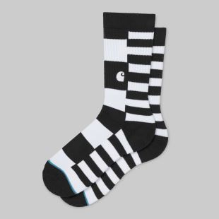 Barkley Socks Black White