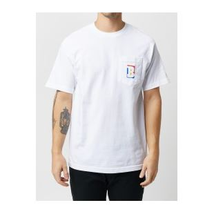 T-shirt Capital B White Pocket