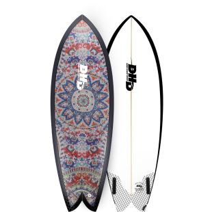 "Mini Twin 5'7"" - Summer Series - Mandala Fire"