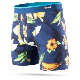 The Boxer Brief Hibiscus Smear BB Navy