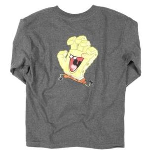 SB Spongehand LS Youth Charcoal Heather