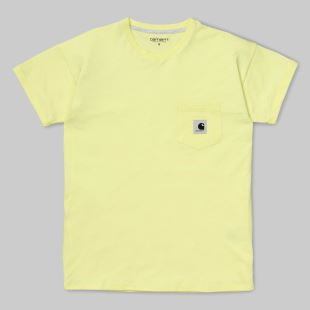 W SS Carrie Pocket T-Shirt Honeydrew Ash Heather