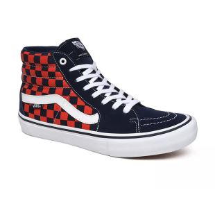Sk8 Hi Pro Checkerboard Navy Orange