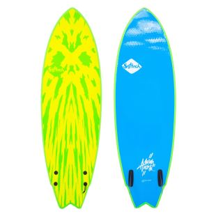 Mason Twin 5'2 - lime/yellow-FCS II