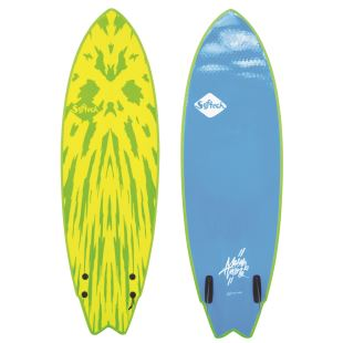 Mason Twin 5'6 - Lime/Yellow - FCS II