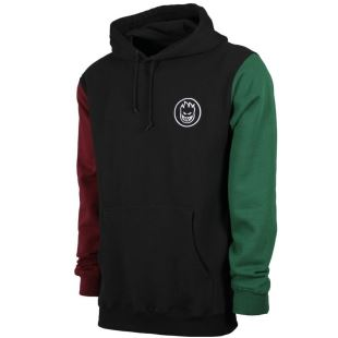 Sweat Hood Bighead Blocked Blk Maroon Dk Green