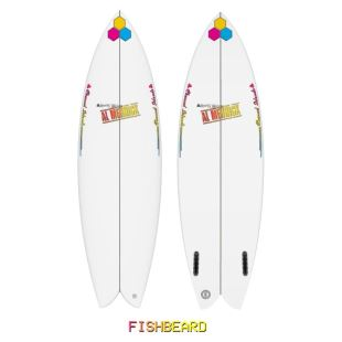 "Fishbeard - 5'8 x 19"" 3/8 x 2"" 7/16 - 29.47 L - Twin - Futures"