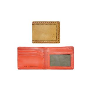 Brouge Bi Fold Wallet Khaki Red Pepper