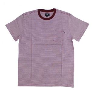 Wisemaker Pocket Tee Burgundy Multi