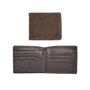 Satellite Big Bill Bi Fold ID Coin Wallet Brown