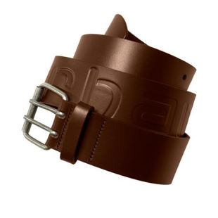 Military Belt Cow Leather Dark Brown