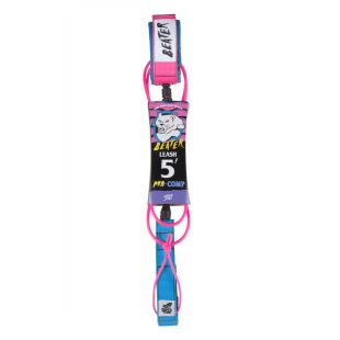 Beater 5' Pro-Comp Leash - bleu / rose