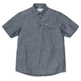 S/S Edison Shirt 100% Cotton Indigo Rinsed
