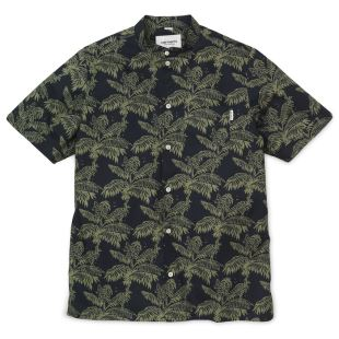 SS Ron Ghetto Palm Shirt Ghetto Palm Dk Navy
