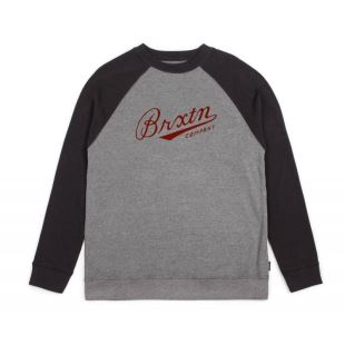 Sweat Fenway Crew Heather Grey Black