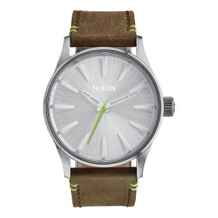 Sentry 38 Leather Brown/Lime