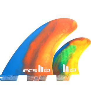 FCS II MR PC XLarge Tri Fin Set Multicolor