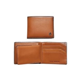 Satellite Big Bill Bi Fold ID Coin Wallet Tan