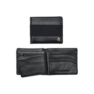 Satellite Big Bill Bi Fold ID Coin Wallet Black Black