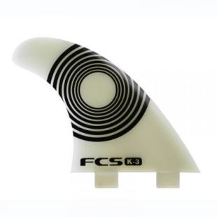 K-3 Natural Glass Flex Tri Fin