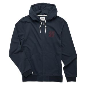 Stacked Logo Zip Hood Dark Navy