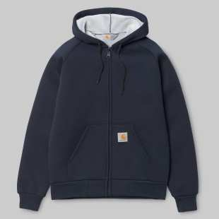 Car-Lux Hooded Jacket Navy Grey