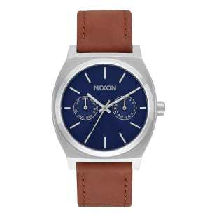 Time Teller Deluxe Leather Navy Sunray / Brown