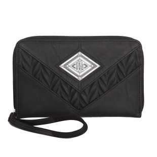 Heat Wave Zip Wallet Black