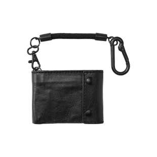Gravel Bi Fold Rope Wallet Blk