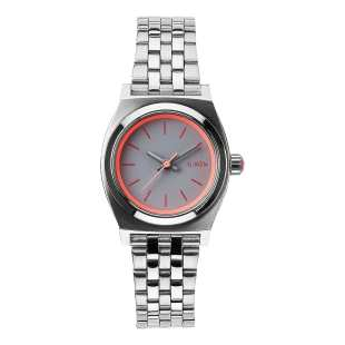 Small Time Teller Silver Neon Pink