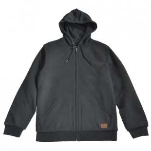 Billings Zip Hood Washed Black