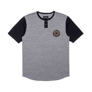 Legion SS Henley Heather Grey Black