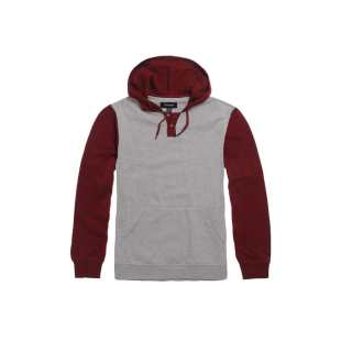 Sweat SYD II Hood Heather Grey Maroon