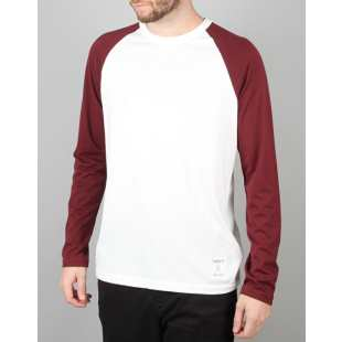 L/S Dodgers T-shirt White / Chianti