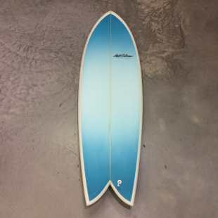"Retro Fish 6'0"" x 21"" 1/2 x 3"" - Twin Fin Glass"