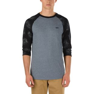 Tonal Palm Raglan Heather Grey
