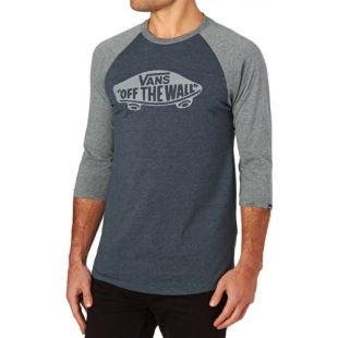 M OTW Raglan Heather Navy Heather Grey