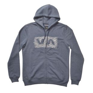 Wave Box Zip Hoody Midnight Heather