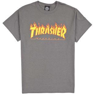 Thrasher Thrasher T-Shirt Flame Logo Charcoal 170af04ded10