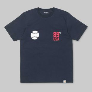 SS Usa Sports Pocket T Shirt Navy
