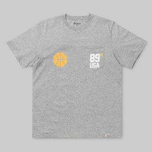 SS Usa Sports Pocket T Shirt Grey Heather