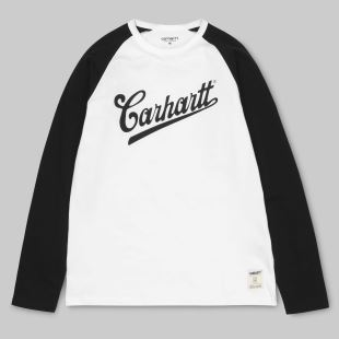 LS Strike T Shirt White Black