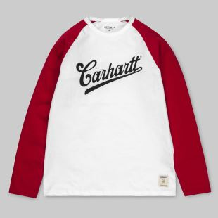 LS Strike T Shirt White Chili