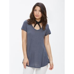 Lou V Neck Dusty Navy