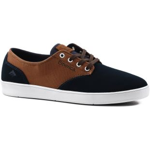 The Romero Laced Navy Brown White
