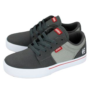 Kids Barge LS Dark Grey Grey Red
