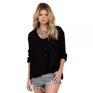 Sunset Path Top Blk