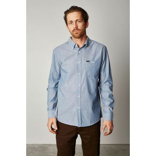 Central LS Light Blue Chambray