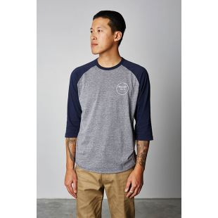 Wheeler 3/4 Heather Grey Navy